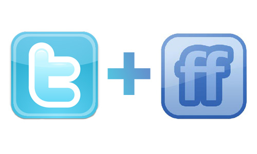 Twitter and FriendFeed